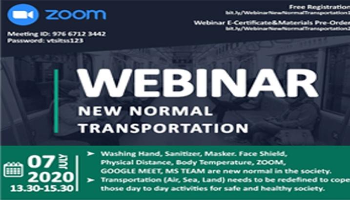 Webinar Bahas New Normal dalam Konteks Transportasi