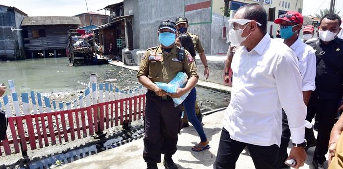Tinjau Kawasan Banjir Rob, Gubernur Minta Pelindo I Bersinergi Menata Pemukiman Belawan