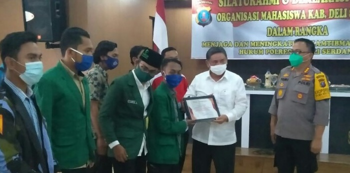 Polresta Deliserdang & Organisasi Mahasiswa Gelar Deklarasi Damai