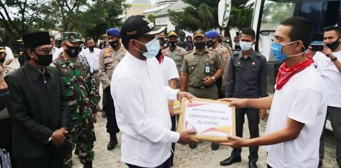 Enam Bulan di Tahanan Thailand, 51 Nelayan Aceh Disambut Pemkab Atim