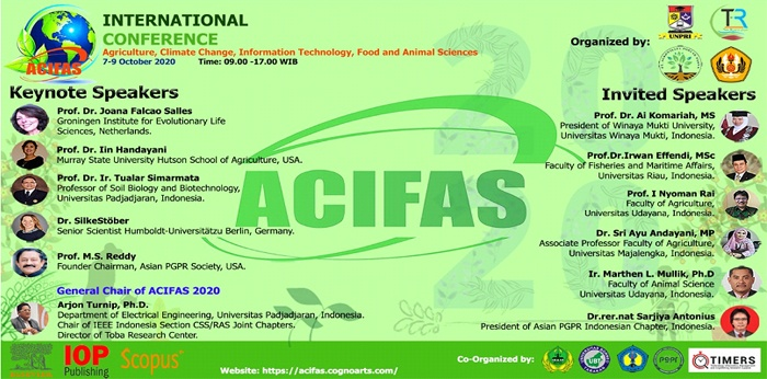 Konfrensi Internasional, Agriculture, Climate Change, Information Technology, Food and Animal Sciences