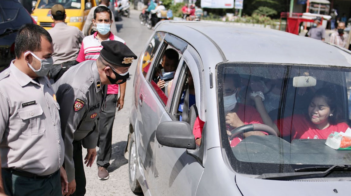 Penyekatan Gerbang Masuk Medan di Tuntungan Berlanjut
