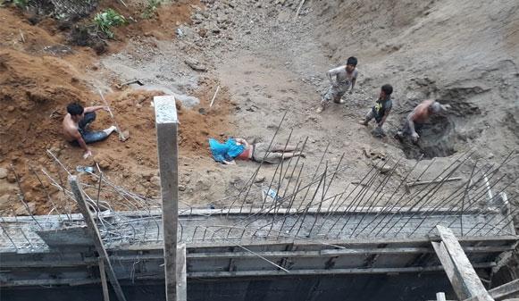 Empat Tertimbun Longsor Penahan Tebing Proyek di Karo