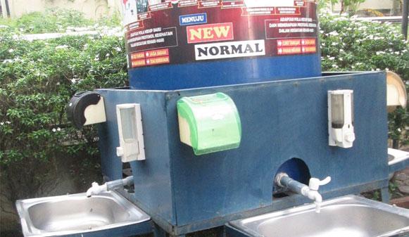 Rp5M Sarana Cuci Tangan Dinilai Mubajir