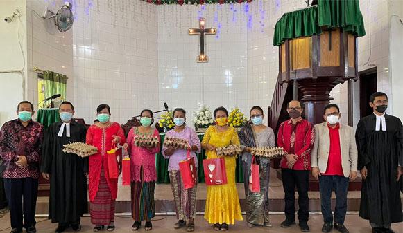 Rapidin Hadiri Pisah Sambut Pendeta Resort HKBP Lubukpakam